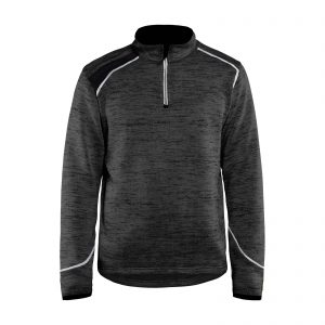 Sweat tricoté col zippé 49432117
